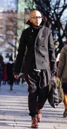 坊主が似合う ファッション