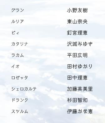 グラブル アニメ声優