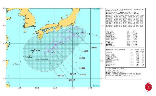 台風10号2016 米軍