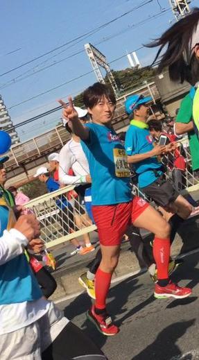大阪マラソン2016 小渕 タイム