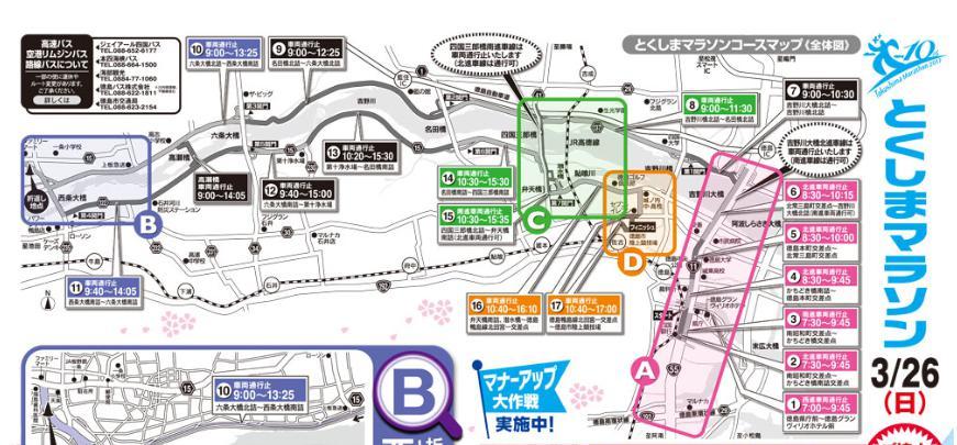 徳島マラソン2017 コース