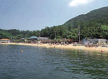 関西の海水浴場 男鹿島