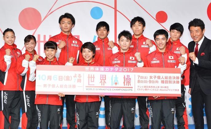 世界体操2017出場選手 日本代表