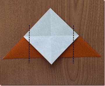 折り紙トナカイ体4
