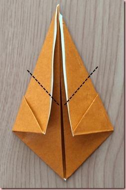 折り紙トナカイ顔6