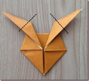 折り紙トナカイ顔7