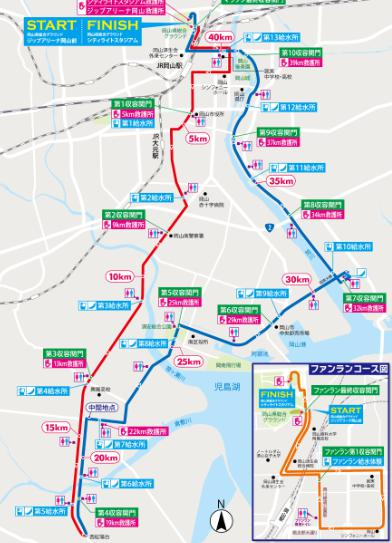 岡山マラソン コースマップ