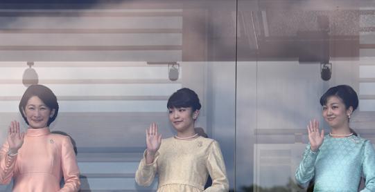 一般参賀2017-2018 皇族ドレス