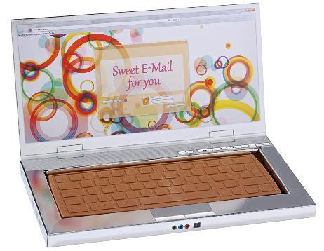 バレンタインネタチョコ パソコン
