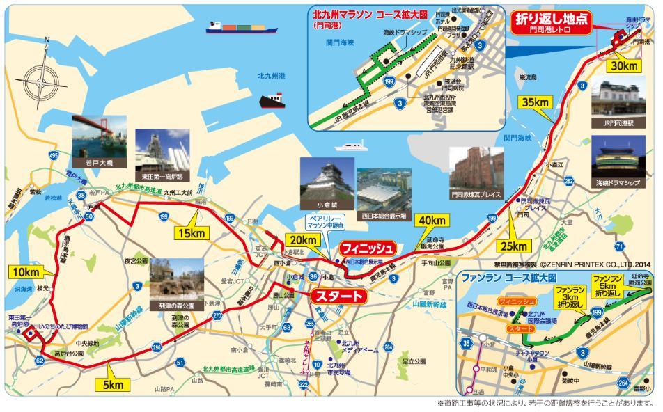 北九州マラソン2018 コース