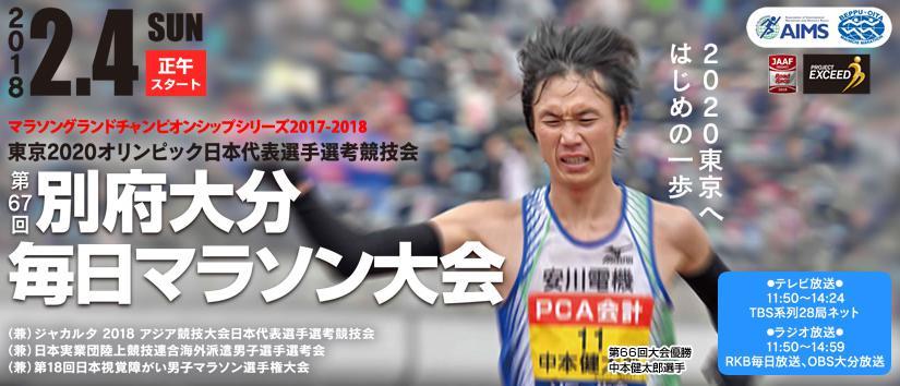 別府大分毎日マラソン テレビ放送