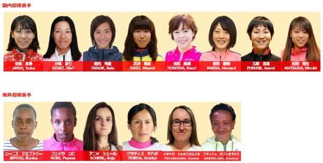 大阪国際女子マラソン2018 出場選手