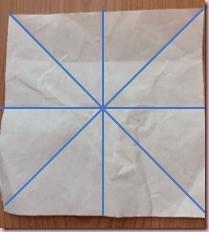 折り紙メダル作り方1