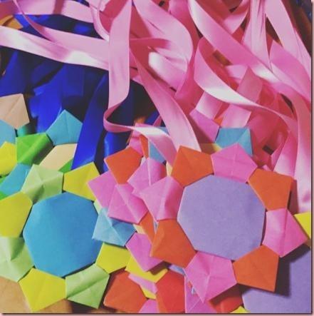 折り紙メダル作り方画像1