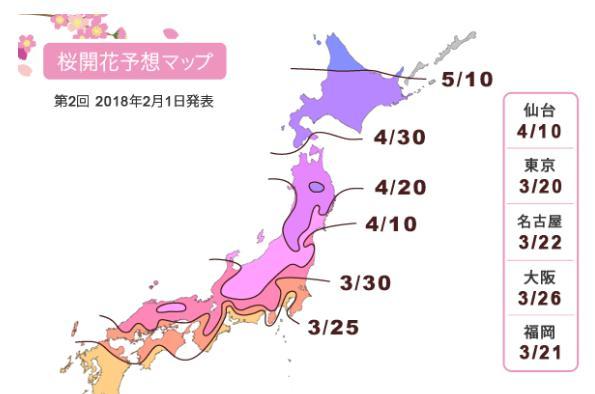 桜開花 予想時期