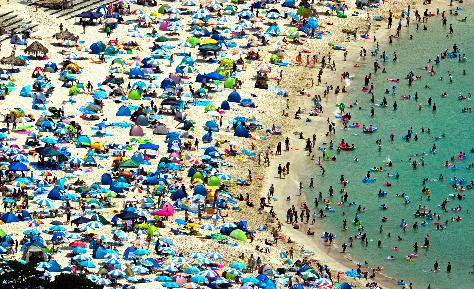 和歌山白浜海水浴場 混雑状況