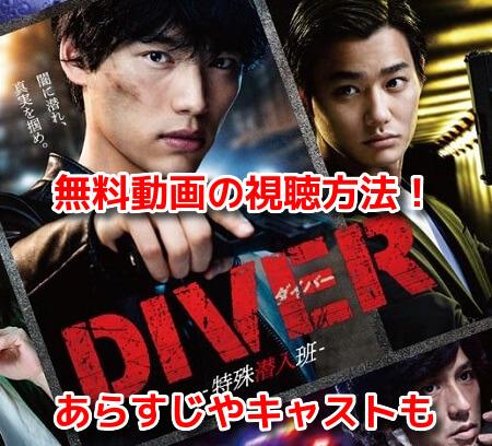 DIVERダイバー特殊潜入班 無料動画 全話 見逃し配信 再放送 視聴方法