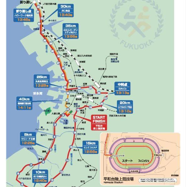 福岡国際マラソン コースマップ