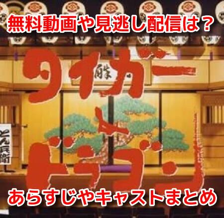 タイガー&ドラゴン 無料動画